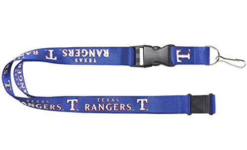aminco MLB Texas Rangers LanyardTeam Color Blue, Team Colors, One Size