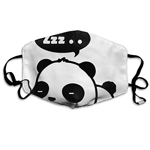 Dust Mask Cute Panda Zzz Fashion Anti-dust Reusable Cotton Comfy Breathable Safety Mouth Masks Half Face Mask for Women Man Running Cycling Outdoor