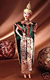 Toy - Barbie Year 1997 Collector Edition Dolls of the World 12 Inch Doll - THAI Barbie with Thailand Traditional Outfits, Cape, Jewelry, Headpiece, Hairbrush and Doll Stand