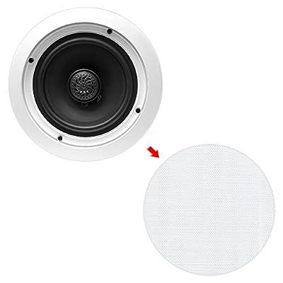 "6.5"" Ceiling Wall Mount Speakers - Pair of 2-Way Midbass Woofer Speaker 70v Transformer 1"" Titanium Dome Tweeter Flush Design w/ 65Hz-22kHz Frequency Response & 250 Watts Peak - Pyle PDIC60T: Industrial & Scientific"