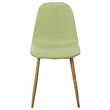 Magshion Side Metal Legs Cushion Seat Back Dining Room Chairs Set of 4 Green