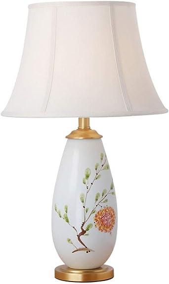 Moderne Tischlampe Chinesisch Bemalte Tischlampen Keramiklampe Korper Tuch Schatten Amerikanische Einfache Schlafzimmer Wohnzimmer Schreibtischlampe Modell Zs 089 Amazon De Beleuchtung