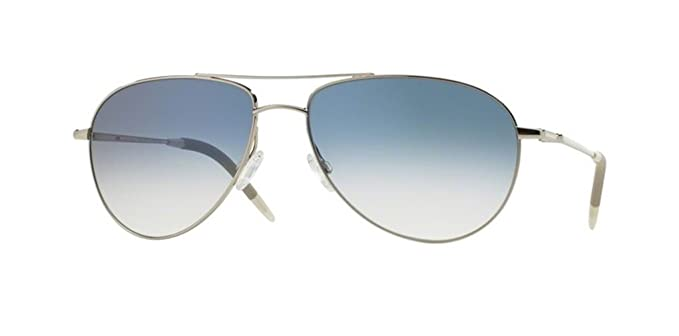 76a94621c39 Image Unavailable. Image not available for. Color  Oliver Peoples Benedict  -Silver   Chrome Sapphire Vfx- 1002 52413F Sunglasses
