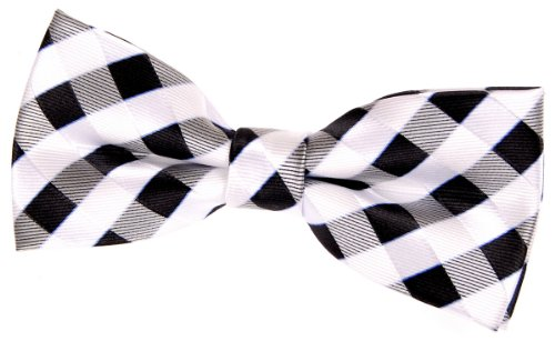 4.5 Various Colors Retreez Classic Check Woven Microfiber Pre-tied Bow Tie