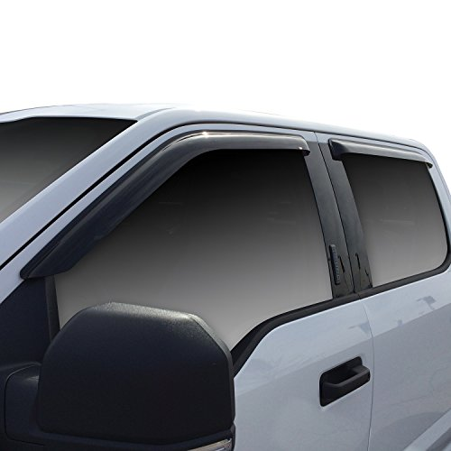 Wade 72-37444 Smoke Slim Wind Deflector, 4 (Wade Sunroof Wind Deflector)