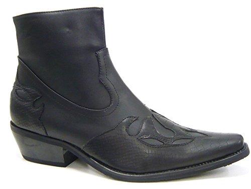 COLT Herren Schuhe Stiefelette Cowboy Style schwarz 43