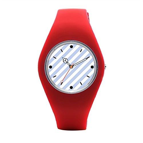 blue-skys Alice azul tienda rayas en inglés país jardín reloj de pulsera: Amazon.es: Relojes