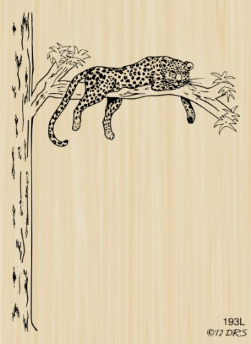 Lazy Leopard Rubber Stamp By DRS (Lazy Leopard)
