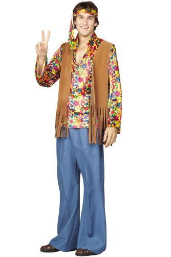 [60's Daisy Far-Out Frank Adult Costume Size Small] (Far Out Frank Costumes)