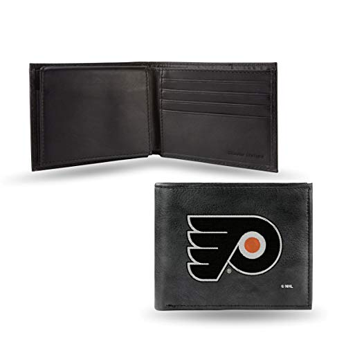 Rico Industries NHL Philadelphia Flyers Embroidered Leather Billfold Wallet ()