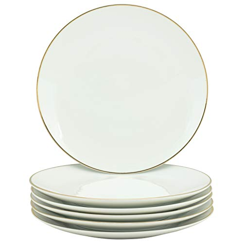10 Strawberry Street CPGL00026 Coupe Gold Line Luncheon Plate,