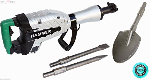 SKEMiDEX---HD 1500W DEMOLITION BREAKER JACK HAMMER CONCRETE + SPADE SCOOPE SHOVEL UG50. This ITEM IS Brand In Seal Box A Must Have For Every Construction Crew! No Compressor