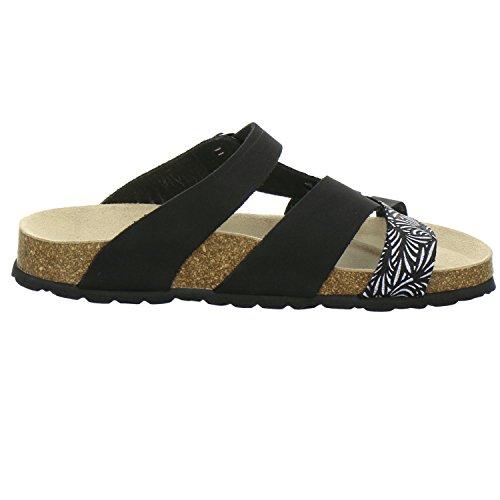 AFS Schuhe donna Nero Zoccoli 212220 Nero q6qZf0x