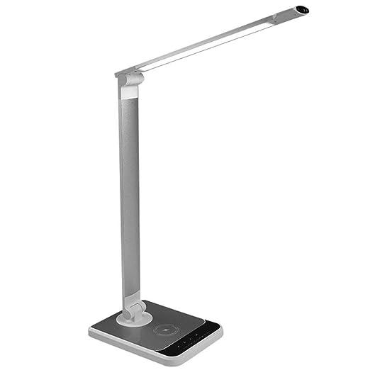 SJUAN Cargador inalámbrico, lámpara de Escritorio LED ...