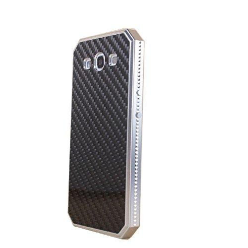 Galaxy S3 Carbon Fiber Case,surpluswind Aluminum S3 Metal Case for Galaxy S3 I9300 Carbon Fiber Back Case (silver black)