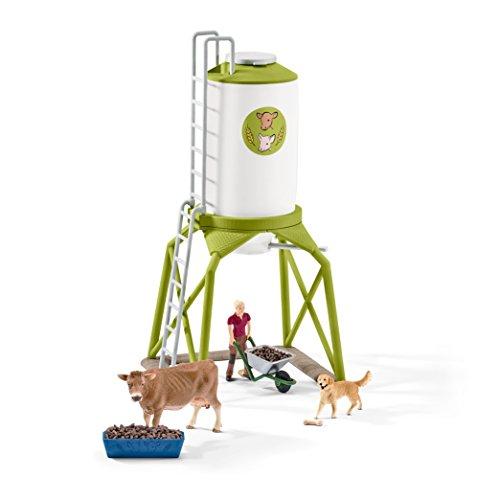 Schleich Feeding Silo with animals Playset