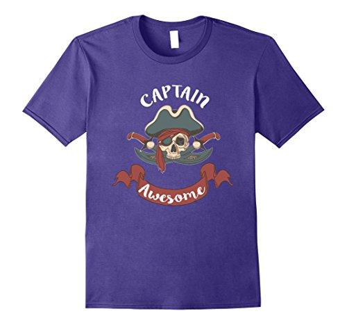 Last Minute Pirate Costume (Mens pirate costume T Shirt halloween t shirt last minute costume Large Purple)