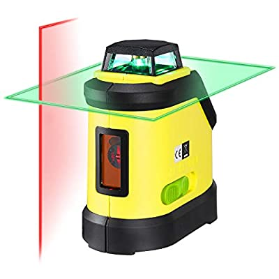 Firecore F190M Self- Leveling 360 Degree Cross Line Laser -One Red beam laser Vertical Line and One 360° Horizontal Green beam Line with Magnetic Base