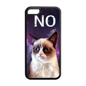 5C Phone Cases, Grumpy Cat Hard TPU Rubber Cover Case for iPhone 5C