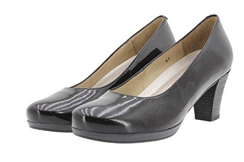 Calzado mujer confort de piel Piesanto 9301 zapato salón cómodo ancho Negro