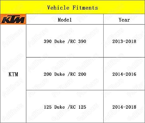 CNC Juego palancas de freno y embrague para 390 Duke/RC390 2013-2018 200 Duke/RC200 2014-2016 RC125/125 Duke 2014-2018 Negro: Amazon.es: Coche y moto