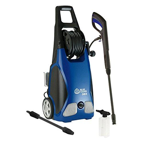 AR Blue Clean AR383 1,900 PSI Electric Pressure Washer, Nozzles, Spray Gun, Wand, Detergent Bottle & Hose
