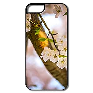 IPhone 5/5S Case, Cherry Blossoms Bloom White/black Case For IPhone 5 5S