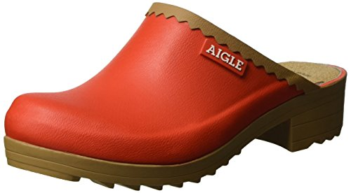Aigle Women's Coquelicot Clogs Red (Victorine Sabot) WZHuYj1ZS