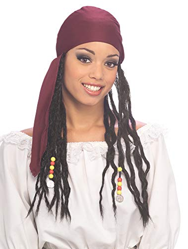 Rubie's Men's Pirate Bandana with Attached Dreadlocks, Multicolor, One Size ()