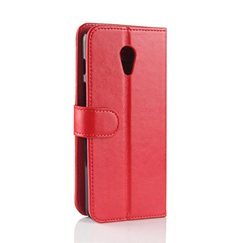 Handmade Flip Meizu Slots HualuBro Cover Credit Meilan Premium PU M6S ID Meizu Brown Case Wallet M6S for with Card Leather Red Case S6 Protective Phone TqTY8wH