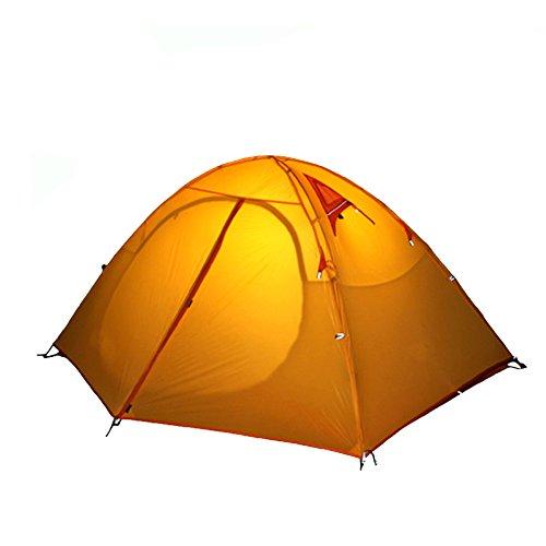 厳密にリゾート怠ALLUCKY 二重層 防水 4シーズン ツーリングテント ダブルウォーム式 キャンプ アウトドア テント [2人用] イエロー ブルー グリーン