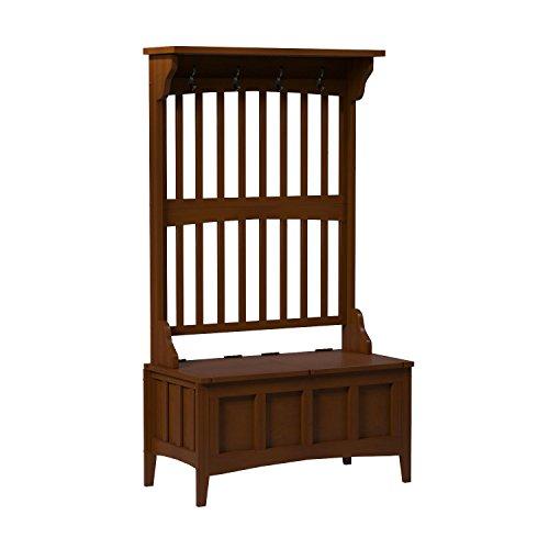 Linon Home Decor Storage Bench with Short Split Seat Storage Stool NEW