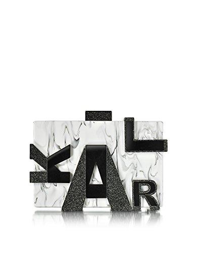 KARL LAGERFELD FEMME 71KW3056 BLANC/NOIR PLASTIQUE POCHETTE
