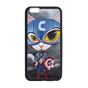 Tobe custom Grumpy Cat Captain America Case for iPhone 6 Plus (Laser Technology)
