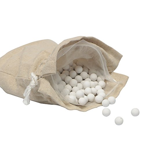 Webake 10mm Ceramic Pie Weights with Cotton Bags (Over 500 Beads Enough for 2 Pie Crusts, up to 1.2LB) Reusable Pie Weights for Baking, Natural Ceramic Baking Beans