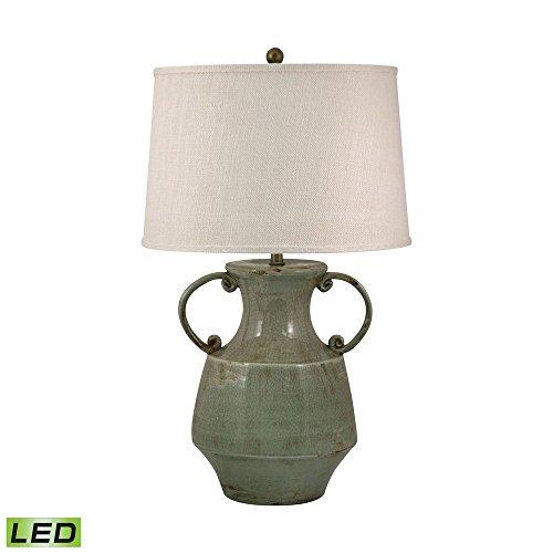 Elk Lighting Amazon: Elk Lighting 205-LED Antiqued Porcelain LED Table Lamp In