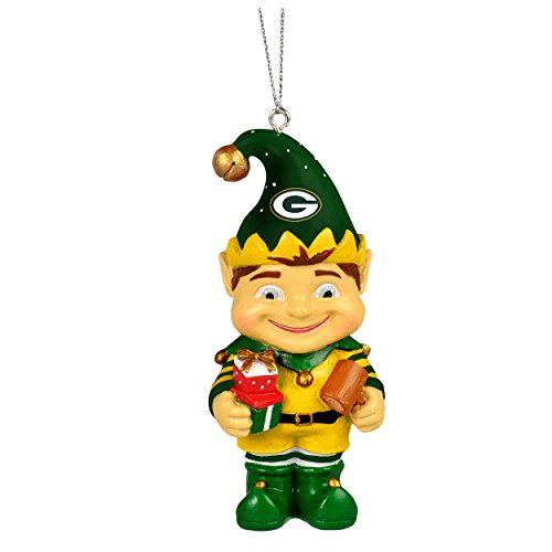 Forever Collectibles Green Bay Packers 2014 Resin Elf Ornament