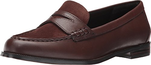 Brown Oxfords Calf (Lauren Ralph Lauren Women's Barrett-SH Brown/Brown Burn Calf/Kid Suede 7.5 B US)