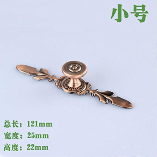 4pcs/set 121X25X22mm Red Bronze Single hole simple drawer cabinet door handle Pull With Base S Size