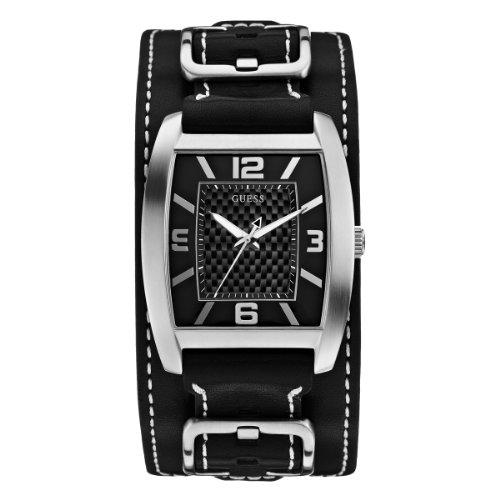 Guess Herren-Armbanduhr Mens Trend Analog Quarz Leder W0186G1