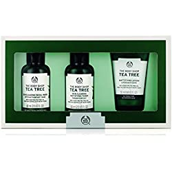 The Body Shop Tea Tree Skin Clearing Essentials Kit, 3pc Skin Care Set for Blemish-Prone Skin