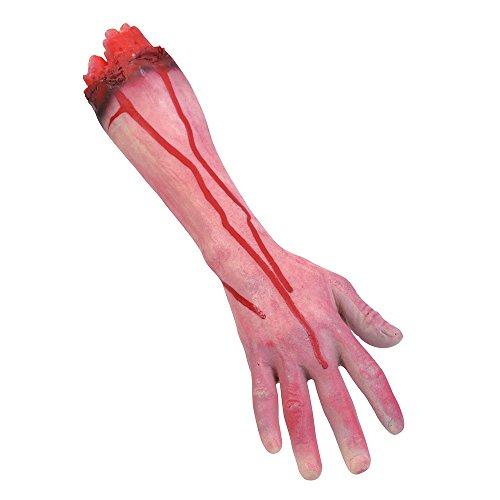 Bristol Novelty GJ249 Cut Off Arm Halloween Prop Set, Red, One Size