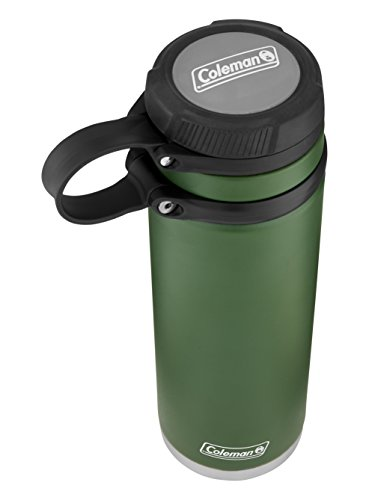Heritage Water Bottle (Coleman Fuse Insulated Stainless Steel Water Bottle, Heritage Green, 24 oz.)