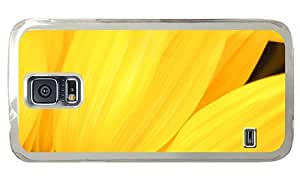 Hipster Samsung Galaxy S5 Case customizable yellow sunflower petals PC Transparent for Samsung S5