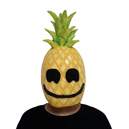 (Lijuan Qin Novelty Halloween Costume Party Cosplay Props Latex Fruit Head Mask, Pineapple Men Masquerade Masks Festival Party)