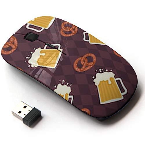 Ergonomic Optical 2.4G Wireless Mouse - Beer Pretzels German