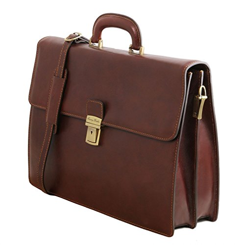 briefcase Red Black compartments 2 Tuscany 2 Leather Red Parma compartments Leather briefcase Leather Parma Leather Tuscany qPS6Z