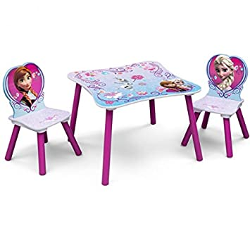 Disney Kindersitzgruppe Frozen Tisch 2 Stuhle Holz Sitzgruppe
