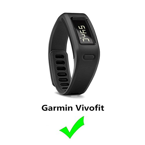 Tkasing Replacement Fitness Wristband Band for Garmin Vivofit Replacement Strap Bands S L Small Lager Size to All size-Black (Black, ()
