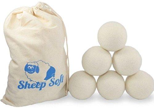 Wool Dryer Balls - Set of 4 - XL - Extra Large - 100% Natural Premium Organic Wool